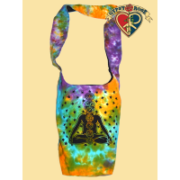 Cosmic Chakra Print Tye Dye Cotton Peddler Bag