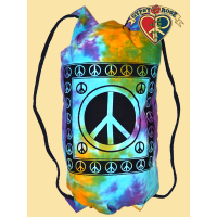 Rainbow Sky Peace Print Tye Dye Cotton Multi Use Bag