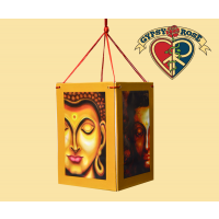Buddha Enlightenment Four Sided Paper Lantern