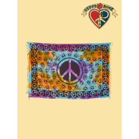 Tye Dye Peace Be With You Sarong