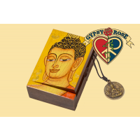 Small Painted Wooden Buddha Box Misc