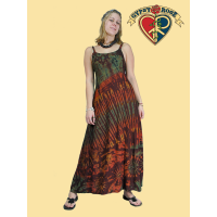 Sunset Supergirl Rayon Tye Dye Long Dress