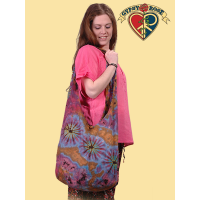 LARGE TYE DYE COTTON PEDDLER BAG