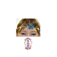 FLOWER POWER BUTTERFLY & ROSE HEADBAND