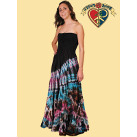 TYE DYE SUMMER LOVE LONG DRESS