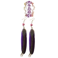 FLY-BY-NIGHT FEATHER EARRINGS