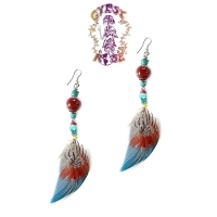 DANGLY FREESPIRIT FEATHER EARRINGS