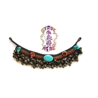 BRAIDED JINGLE JANGLE WITH STONES ANKLET