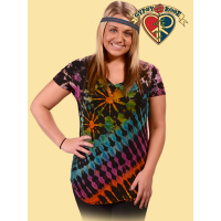 ELECTRIC LADY STRETCHY V-NECK TOP