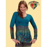 LONG SLEEVE ALL-GOOD TYE DYE SPANDEX BLEND TOP