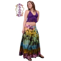 Starlight Tye Dye Spandex Blend Long Free Flow Skirt