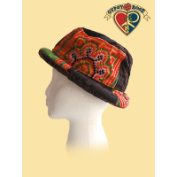 COTTON PATCHWORK ROLL BRIM HAT