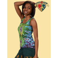 BOLD AS LOVE TYE DYE COTTON RIBBED TANK TOP