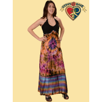 HEAD SPACE HYPNOSIS TYE DYE RAYON HALTER MAXI DRESS