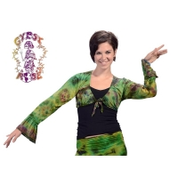 Gypsy Love Bell Sleeve Spandex Blend Tye Dye Shrug