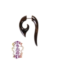 TRIBAL FISH HOOK HORN FAUX BODY JEWELRY