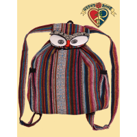 Hoo Really Cares Cotton Owl Backpack Bag