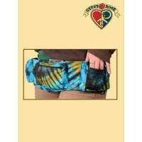 Electric Forest Tye Dye Cotton 3-Pocket Hiprider Bag