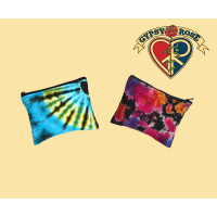 Large Electric Forest Tye Dye Cotton Coin Purse