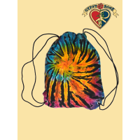 Electric Forest Tye Dye Cotton Drawstring Backpack
