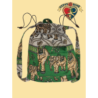 Take A Walk On The Wild Side Woven Cotton Backpack