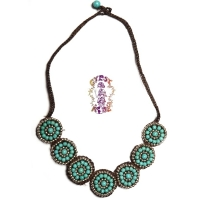 Apache Trail Woven And Beaded Necklace