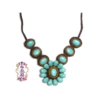 Cherokee Valley Woven Beaded Necklace