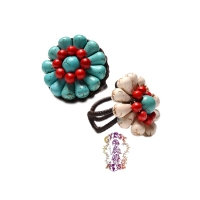 Choctaw Wildflower Woven And Beaded Ring