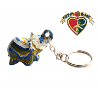 Colorful Thai Lucky Elephant Carved Keychain