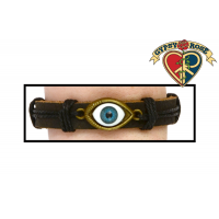 Eye Of Protection Leather and Cord Bracelet