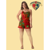 Free Lovin Feather Print Rayon Romper