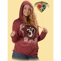 Om Of Kindness Cotton Printed Lightweight Hoodie