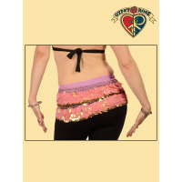 Gypsy Caravan Belly Dance Coin & Large Sequin Gauze Scarf