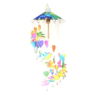 COLORFUL CAROUSELS LOVEY DOVEY MULBERRY PAPER WISH CATCHER