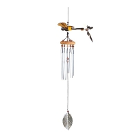 DRAGONFLY WOOD & FEATHER WIND CHIME