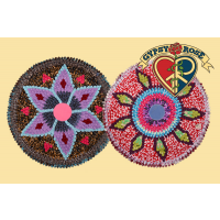 KALEIDOSCOPE COTTON FABRIC MATS / WALL HANGINGS