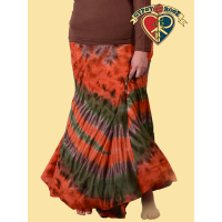 FULL BODIED FREEDOM XL TYE DYE RAYON WRAP SKIRT