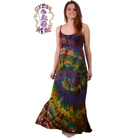 Starlight Tye Dye Spandex Blend Maxi Dress