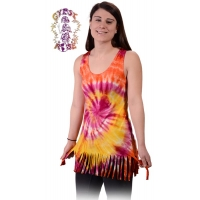 Electric Lady Tye Dye Spandex Blend Fringed Shirt