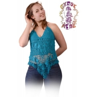 Summer Of Love Crochet Halter Blouse