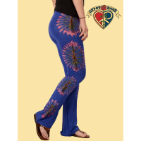 Rock Me Baby Spandex Blend Yoga Pants With Tye Dye Bursts