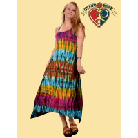 Not Fade Away Tye Dye Spandex Blend Maxi Dress