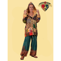 Magic Carpet Ride Rayon Printed Harem Pants
