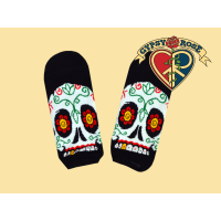 Sugar Mountain Calavera Ankle Socks