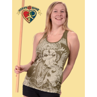 Free Spirit Ganesh Printed Cotton Tank Top