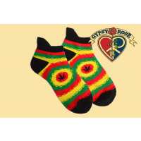 Panama Red Rasta Ankle Socks