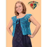 Song Bird Crochet Midriff Shrug