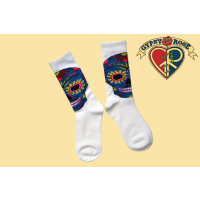 DAY OF THE DEAD SKULL TALL SOCKS