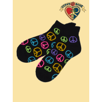Dream Believer Colorful Peace Sign Ankle Socks