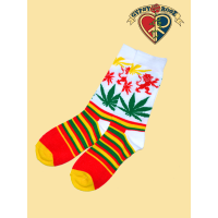 Natural Mystic Rasta Lion Tall Socks